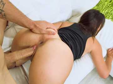 Petite Latina chick Victoria Roxx gets banged so damn hard