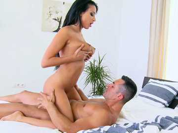 Absolutely stunning Eurobabe Anissa Kate rides a big beautiful cock