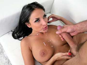 Busty Latina Anissa Kate getting a desirable big cock for her lustful trimmed pussy