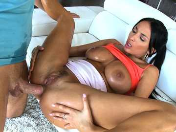 French courtesan Anissa Kate takes giant kielbasa in hot pussy and tight anal cave