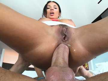 Anissa Kate's voracious butt hole is riding big-sized beaver-cleaver like a real pro