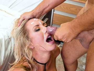 Hard-on doctor slides his member inside Brett Rossi's cave and fingers her ass hole