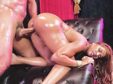 Ramon and his new sex partner Mercedes Carrera oil each other and perform doggy style banging