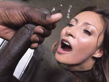 Vicious black cock gets inside the trimmed pussy of seductive small-titted girl Jade Jantzen