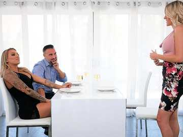 When Keiran Lee and lovely blonde Juelz Ventura stay alone together, the cock sucking begins