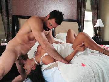 August Taylor is a super busty and super horny cheating wife fucking hard