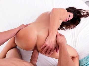 Mature India Summer got her trimmed couch stuffed doggy style in POV porn