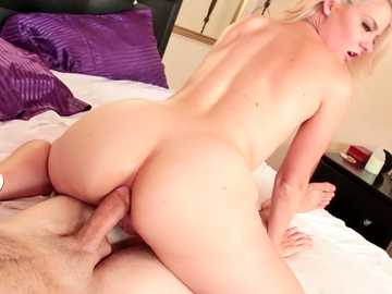 Young skinny Lisey Sweet has prepared her ass for a first real deep fuck.