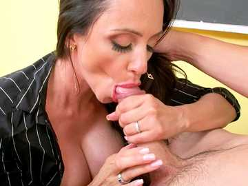 Busty teacher Ariella Ferrera seduced her student