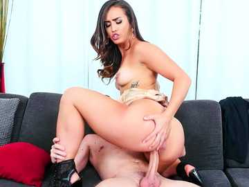 Busty brunette Kelsi Monroe receives a hard fuck from her personal assistant.