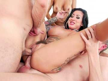 Couples fantasies of foursome sex with Francesca Le and Lily Lane