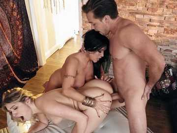 Stepmom Giselle Palmer, her stepson and his girlfriend Sheridan Love