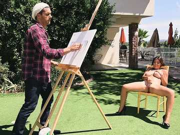 Ramon fucks talented model Ella Knox after he drew a picture of her naked body