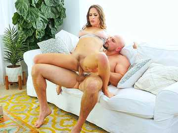 Ashley Adams rides her stepfather's cock