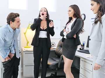 Office sex with three secretaties Ariana Marie, Emily Willis, Sofi Ryan