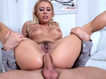 Sex-hungry miss Nikky Thorne uses dildo before anal banging by Toby