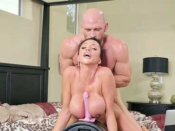 Insatiable Ariella Ferrera doesn't tell husband she is streaming solo masturbation