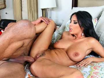 Anissa Kate gets her wet trimmed cunt banged on broad bedroom by husband's friend