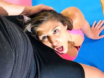 Well-endowed brunette Bella Danger is seduced by her yoga master