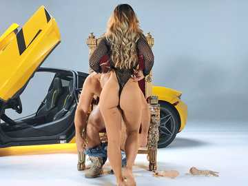 Amazing anal queen Kelsi Monroe rides a huge dick with her ass on the throne