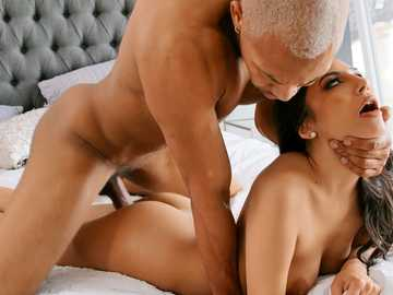 Adorable Gianna Dior begs black guy not to stop and fuck her even harder