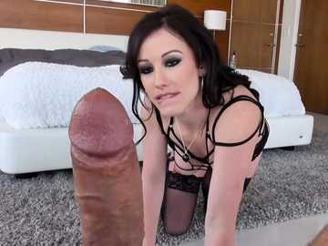 Rocco Siffredi welcomes brunette Jennifer White on a big cock in POV video