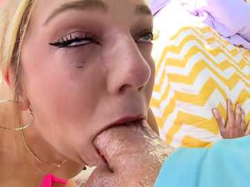 Tiffany Watson gets deep ass fuck and eye-watering deepthroat session