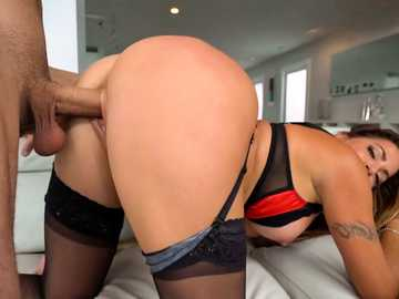 Big ass of Latina MILF Julianna Vega grants her husband hardcore good time