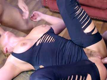 Blonde MILF Phoenix Marie gets anal fucking and throat fucking doggy style
