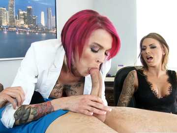 Oral fixation of Anna Bell Peaks satisfied with deepthroat by Juelz Ventura