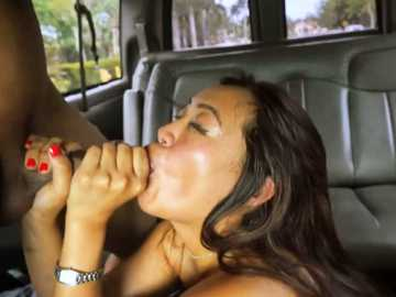 Asian Sasha Yamagucci took a ride on big cock in bang bus and got facials