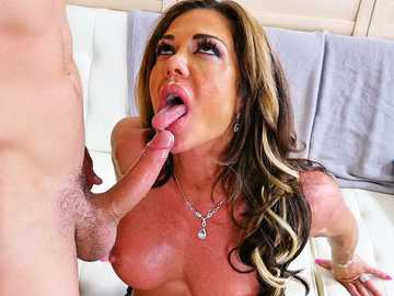 Filthy brunette Nina Dolci gets her skinny butt and shaved pussy pounded on