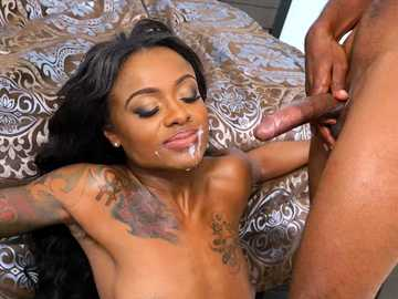 Skinny black girl Lexie Deep discovers questionable pleasures of anal sex
