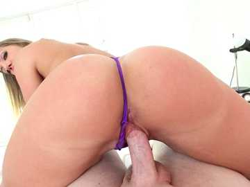 Bubble butt of blonde Candice Dare thoroughly fucked in front of POV camera