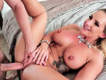 Cali Carter meets the boss of her husband to fuck his big cock like a slut
