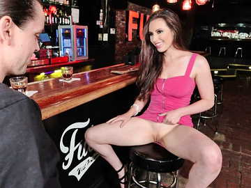Meeting horny Casey Calvert at the bar turns out pussy licking acquaintance