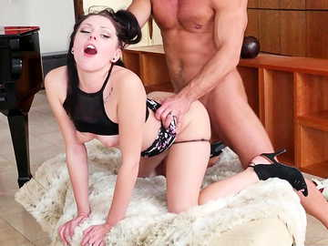 Megan Sage seduces her friend's husband to get hardcore throat fucking