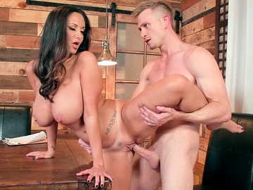 Cheating wife with long dark hair and big tits Ava Addams is screwed by young dude