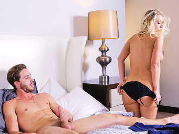 Katie Morgan rides young cock in reverse cowgirl position like a real MILF