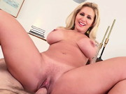 Famously big-assed blonde MILF Ryan Conner loves talking dirty to director Manuel Ferrara. He ...