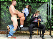 Bella Danger doesn't give a fuck about banging guy in public place