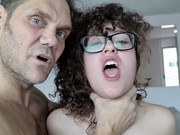 Frisky girl with pointy tits Alma del Rey rides big beef-whistle of Nacho Vidal