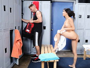 Veronica Rodriguez is showering up after a workout when Levi Cash accidentally walks in to the ...