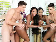 Diamond Jackson is doing some yoga in her yard when her neighbor sneaks in to watch her. He ...
