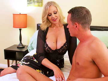 Julia Ann is a playful MILF eager to seduce her son's friend and get banged
