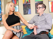 Buddy Hollywood discovers porn video of his bodacious stepmom, busty, big-assed blonde Olivia ...
