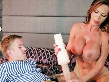 Perky MILF Nikki Benz comes into the masturbation dreams of a young boy
