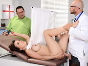 Cytherea cant see what doctor Sins is doing to her pussy, but it sure feels good! If only her ...