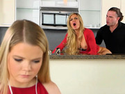 Long-haired BF of Lexxxus Adams bangs lusty milf Nina Dolce from behind