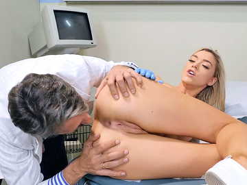 Cute nurse Anny Aurora takes a break from work to take a dentist's huge dick